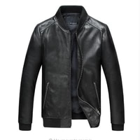 autumn male motorcycle jacket skull embroidery cowhide genuine leather coats to 3xl real thick slim fit black fashion clothing