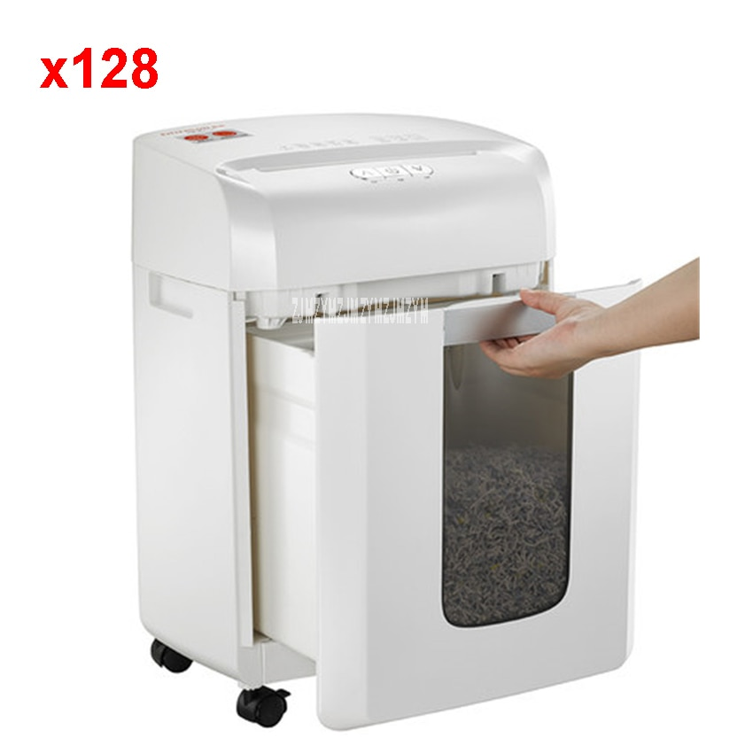 آلة تقطيع الورق الكهربائية الصغيرة X128 ، 16 لتر ، للاستخدام المكتبي والمنزل ، طاقة عالية ، 220 فولت/250 واط ، 2 × 12 مللي متر
