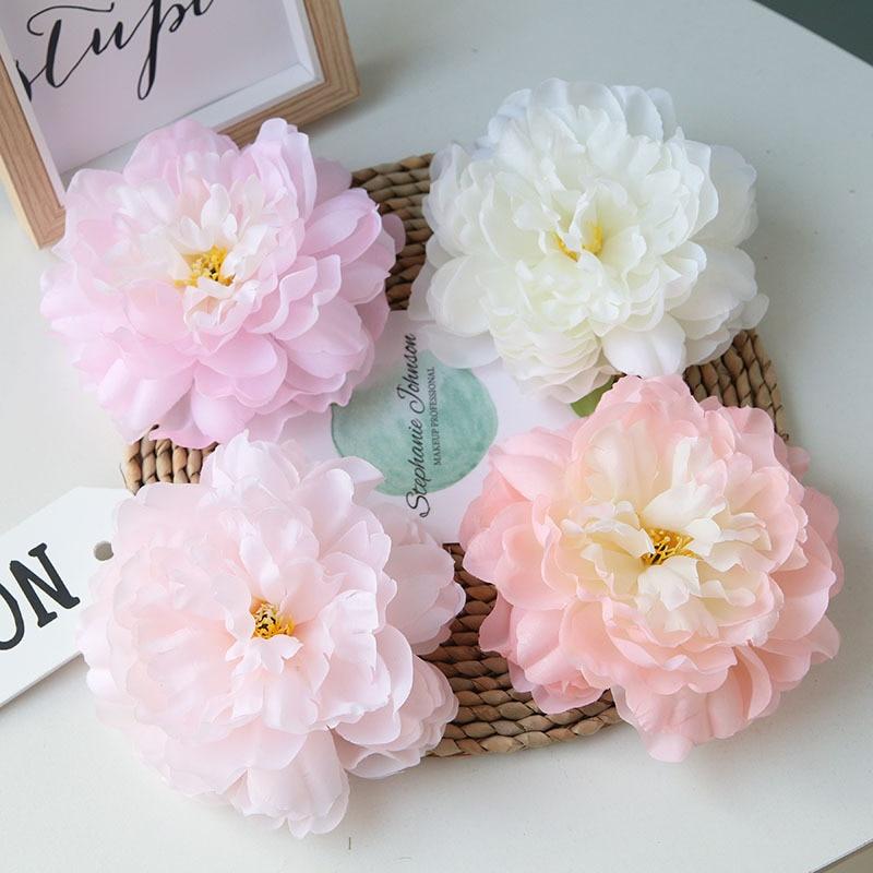 20 unids/lote 15cm francés artificial peonía flor cabeza simulación decoración DIY boda familia fiesta camino decoración de pared de flores
