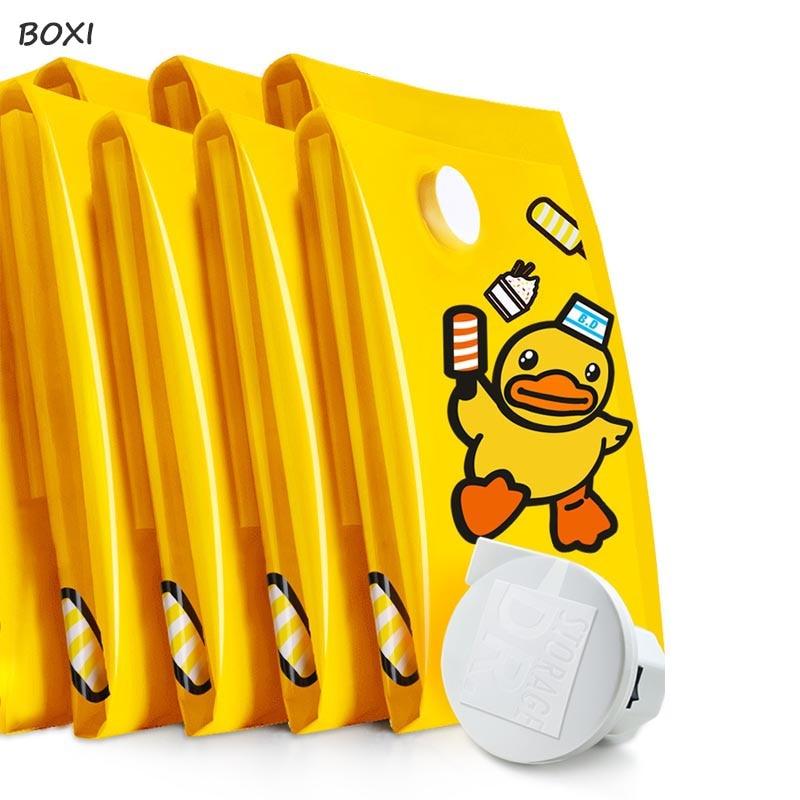 Boxi New Household Vacuum Bags For Clothes Quilt Organizer Cute Duck Closet Organizer Travel Compression Storage Bag