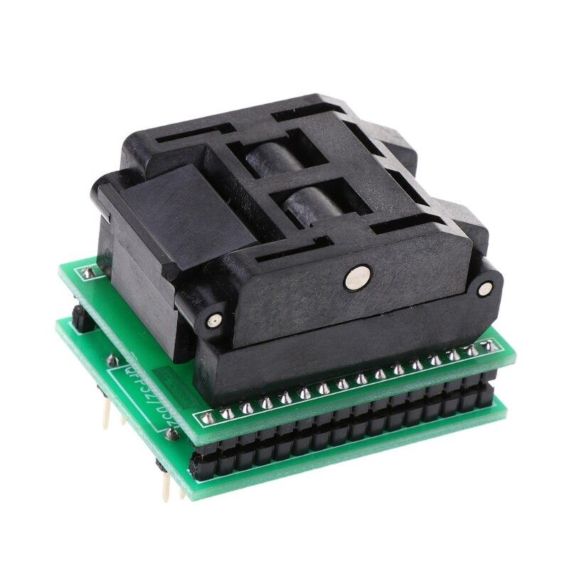 TQFP32 QFP32 a DIP32 IC programador adaptador conector para prueba de chips SA663 asiento ardiente