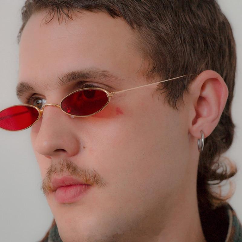 Маленькие овальные солнцезащитные очки для мужчин и женщин, винтажные маленькие круглые солнечные очки в металлической оправе в стиле ретр...