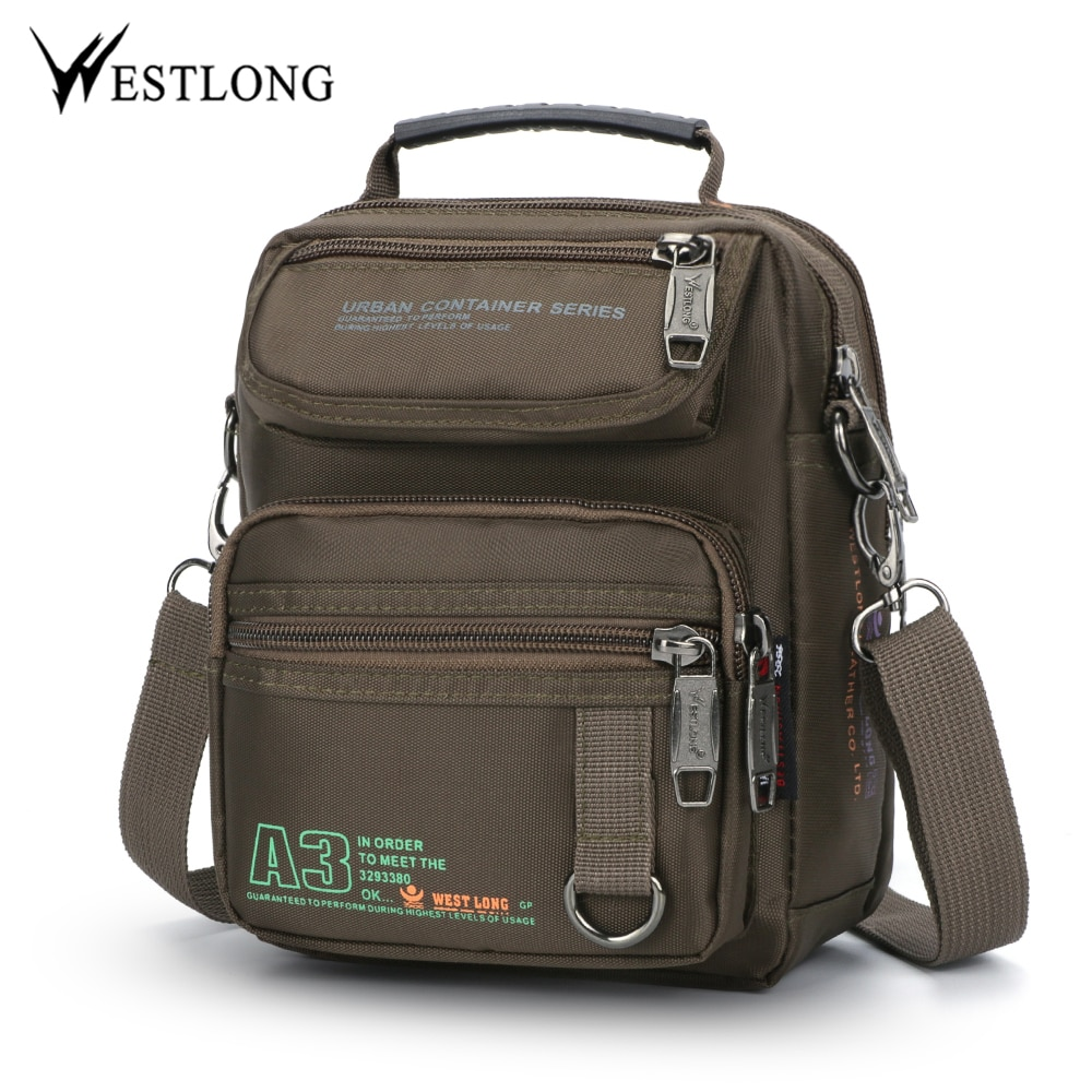 3707W Men Messenger Running Bags Casual Multifunction Small Travel Bags Waterproof Shoulder Waist Pa