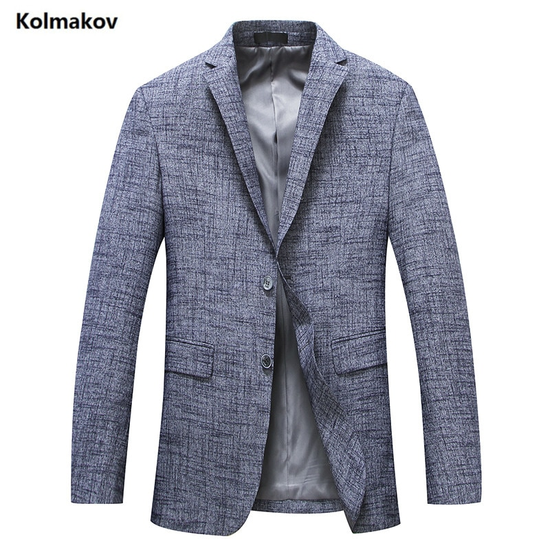 ¡Novedad de 2019! chaqueta KOLMAKOV de un solo pecho para hombre, chaqueta clásica para hombre, chaquetas de negocios para caballero, talla M-4XL