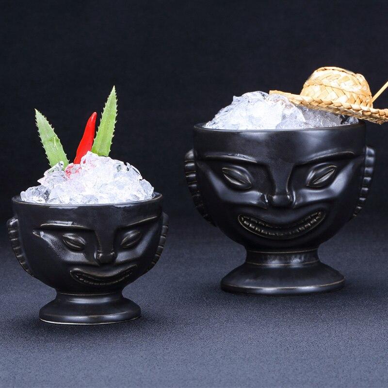 Retro cocktail bar ceramic cup personality Hawaii glasses TIKI totem