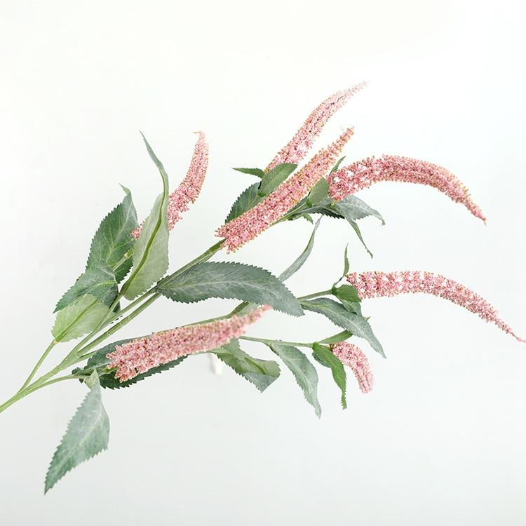 Роскошные Длинные шалфея трава ветка Искусственные цветы «сделай сам» поддельные растения для дома Свадебные украшения Флорес искусственное