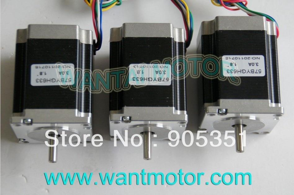 SALE--3PCS CNC NEMA 23 Wantai Stepper Motor 6-Leads ,270oz-in, 1.8Degree, 78mm 57BYGH633, CNC mill equipment !! High quality !