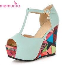 Talons hauts sandales à talons compensés femmes mode boucle couleurs mélangées chaussures à semelles compensées élégant doux simple populaire chaussures dété taille 34-45