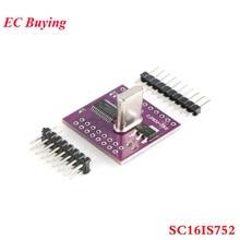 SC16IS752 تحويل وحدة I2C IIC/SPI حافلة واجهة إلى UART وحدة مزدوجة القناة المسلسل ميناء لوح تمديد