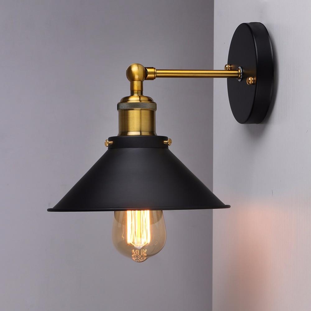 Vintage Chapado en lámpara De Pared industrial Retro Loft Luz De Pared...