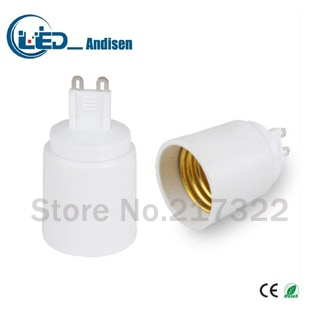 G9 a E27 adaptador de conversión hembra material de alta calidad de material ignífugo GU10 adaptador de enchufe titular de la lámpara