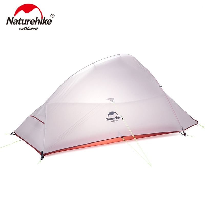 Naturehike Cloud Up Series Ultralight Camping Tent Waterproof Outdoor Hiking Tent 20D Nylon Backpacking Tent With Free Mat недорого