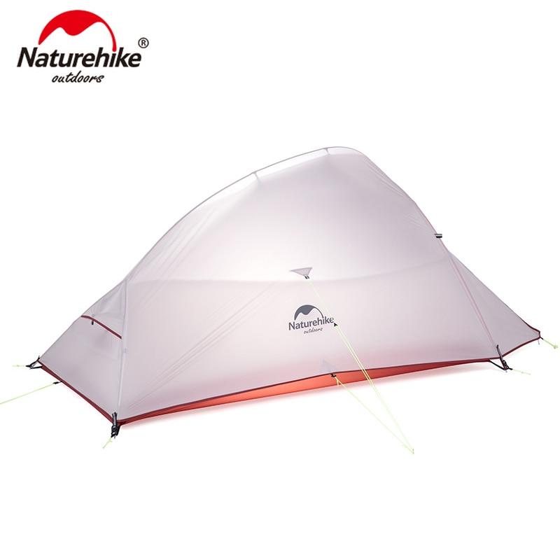Туристическая палатка Naturehike Cloud Up, Ультралегкая Водонепроницаемая нейлоновая палатка 20D с бесплатным ковриком
