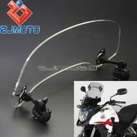 Motorcycle Adjustable Clip-on Spoiler Windshield Extension Moto X-Creen For Honda Crosstourer CBR500X NC700X NC750X VFR1200X