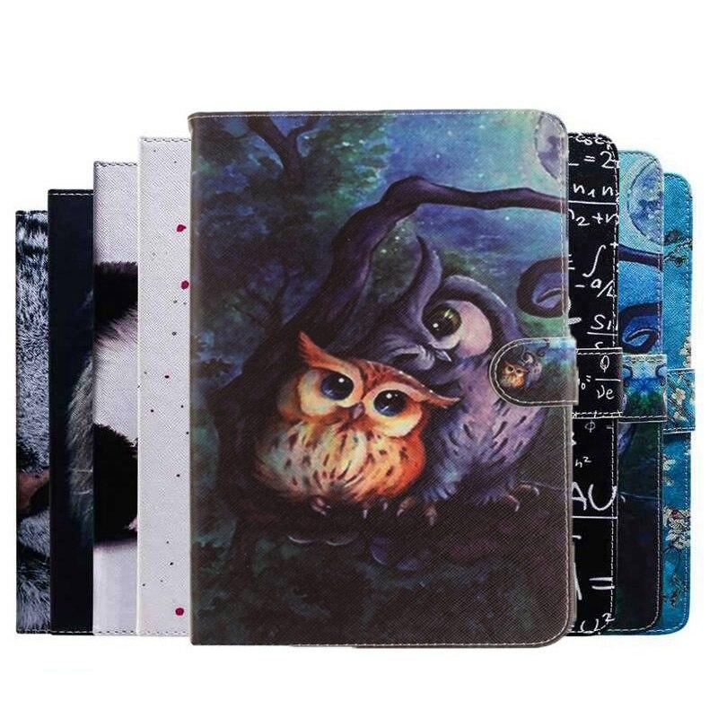 3d pintura coruja animal caso de couro do plutônio para amazon kindle paperwhite 1 2 3 suporte capa para amazon paperwhite 4 2018 caso + filme caneta