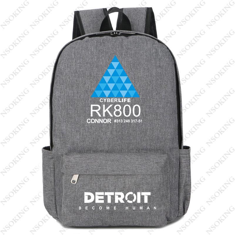 Detroit make-حقيبة ظهر للكمبيوتر المحمول rk800 ، حقيبة سفر ، حقيبة مدرسية للمراهقين ، طالب غير رسمي ، نمط preppy