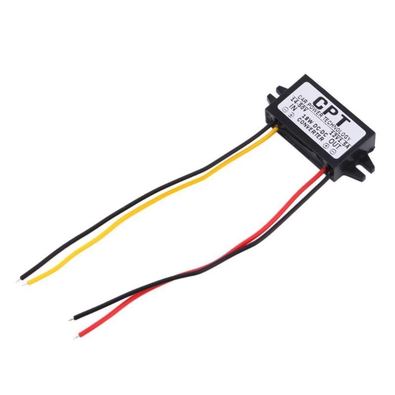 Высокое качество от 7 до 50 В до 12 В 5,5 * 2.5DC мужской преобразователь CPT автомобильный понижающий регулятор мощности автомобильный модуль зарядка DC преобразователь Регулятор
