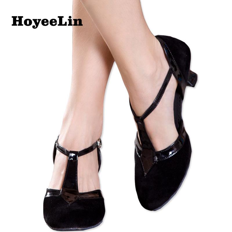 Hoyeelin moderno tango dança saltos mulher dedo do pé fechado indoor ballroom party dança sapatos saltos personalizados