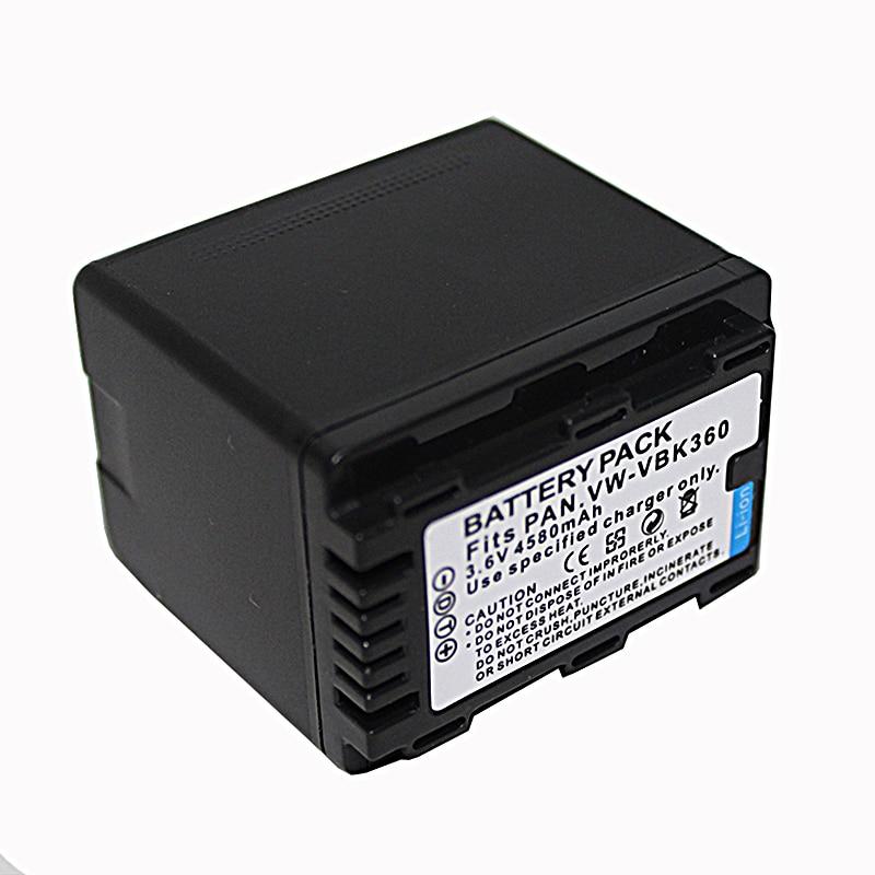 3.6 V 4580 mAh Repalcement Bateria para Panasonic VW-VBK360 VBK360 TM40 SD40 HDC TM60 HS60 HS80 TM80 SD80 SD60 H85 T50 T55 H101 S71