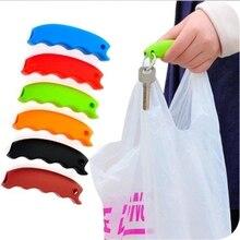 Gran venta 1 Pza plato de silicona para bolsa de compra para proteger las manos viaje bolsa de supermercado Clips manija del sostenedor de la compra