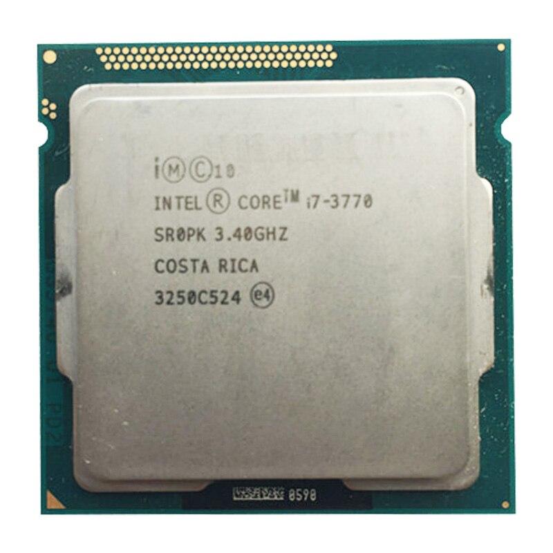 إنتل كور i7 3770 رباعية النواة وحدة المعالجة المركزية LGA 1155 المقبس 3.4Ghz استخدام H61 H67 Z77 Z68 H77 اللوحة 77w tdp 3770 المعالج