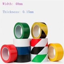 1pcs 48mm * 17m Warning tape PVC Paste Identification Area Zebra Tape  Color Positioning Tape 10 Colour