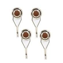 4 stücke Starke Mini Magnetische Kreisförmige Haken Aufhänger Magneten Verbunden Home Küche Wand Halten power neodym magnet haken