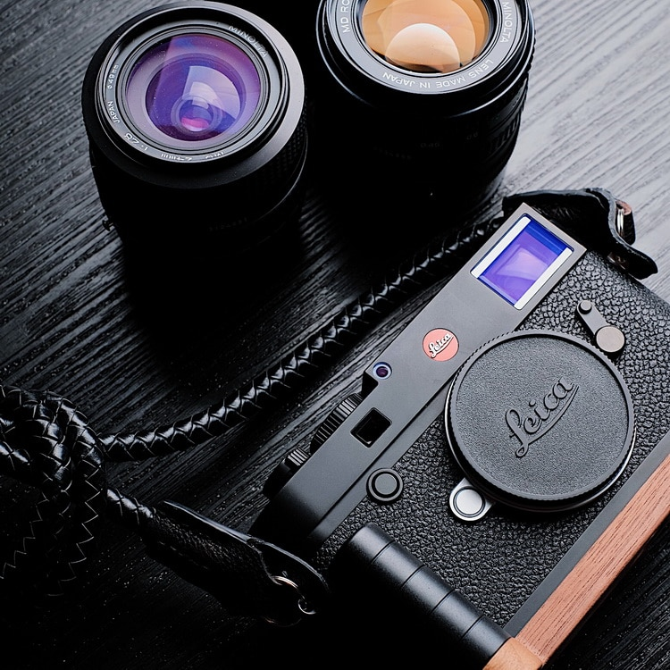 Customized for Leica M10 Series Original Wooden Quick Release L Plate / L Bracket Hand Grip Holder enlarge