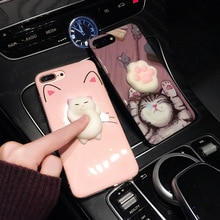Komik Sevimli Kedi Yumuşacık telefon kılıfı Için iphone 6 6 S 6 Artı Yumuşacık Durumda Yumuşak Konut Case blando Kapak iphone X 8 7 7 artı Kılıf