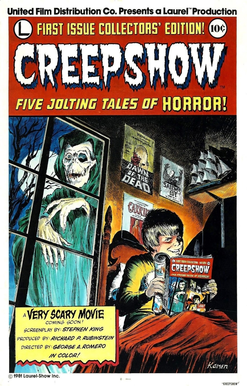 Póster de película CREEPSHOW (1982), cartel de pintura decorativa de seda horrorosa, 24x36 pulgadas