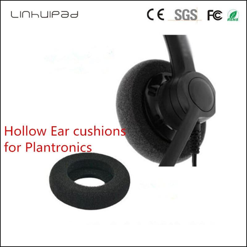 Soft Donut Foam Ear Pads Replacement Ear Cushions With 57mm diameter for Plantronics SP11 H251N HW251N H261N H51 HW29 100pcs/lot enlarge