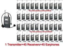 Takstar WTG-500/WTG 500 UHF Sem Fio sistema de áudio faixa de operação de até 100 m para guia Turístico 1 Transmissor + 40 Receptores, WTG500