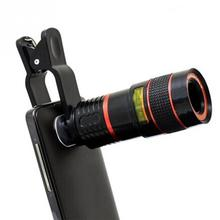Универсальный зажим 8X 12X 20X зум телескопический объектив для мобильного телефона телефото внешний смартфон объектив камеры для iPhone Sumsung Huawei