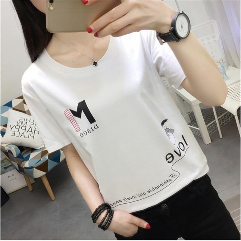 Good Quality Cotton T-shirt 2020 Women Summer Top Korean Harajuku Cute Totoro Print Short Sleeve T-shirt Kawaii Student T-shirt