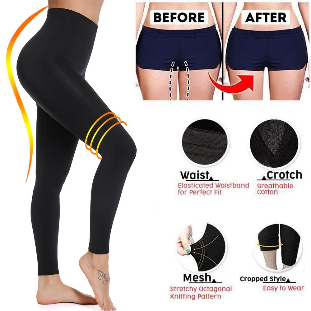 Miss Moly Leggings Mujer esculpir pierna del sueño Legging alta cintura Skinny pantalones adelgazamiento Leggings Thigh Slimmer Pants