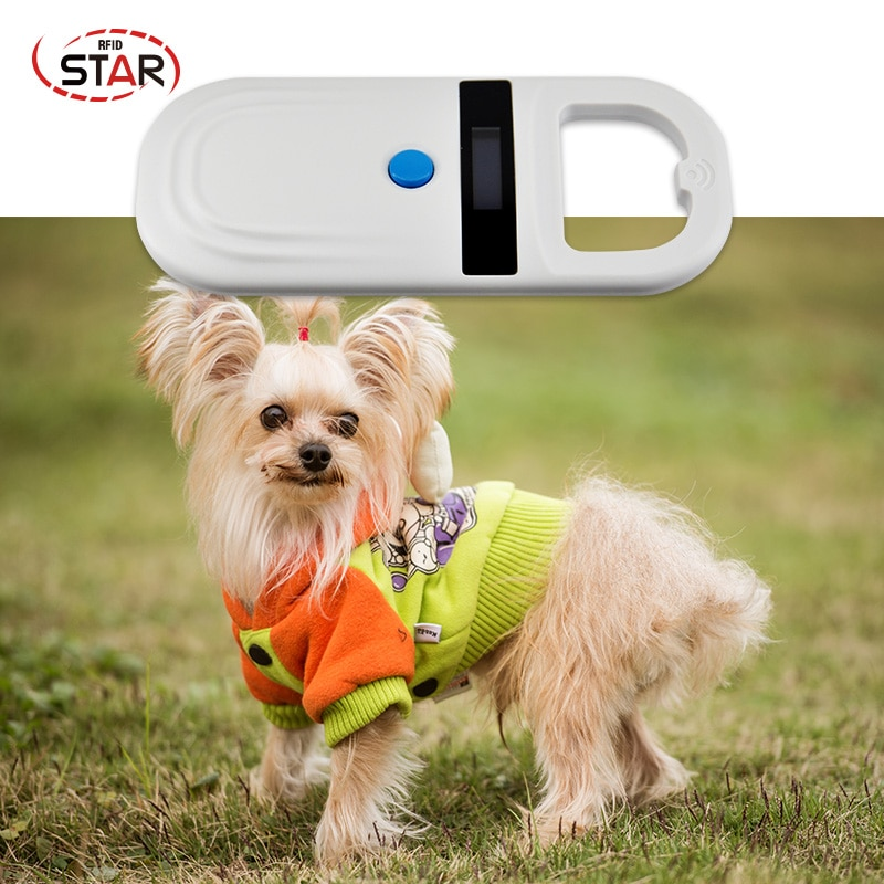 134.2KHz portátil FDX-B ISO11784/11785 Display LCD de Chip RFID Reader Para Cat Dog Pet Animais Microchip Scanner Tag scanner de código de barras