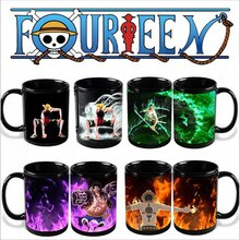 Luffy Zoro-tasses à café couleur changeante   Une pièce, tasse à thé, différents Styles, dessin animé, pour cadeaux, fête danniversaire