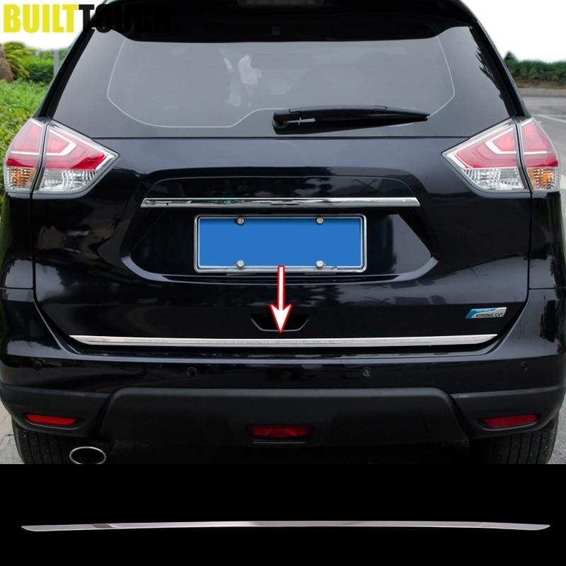 Ajuste para Nissan x-trail Xtrail Rogue 2014-2019 de acero inoxidable puerta trasera del maletero puerta trasera cubierta de moldura