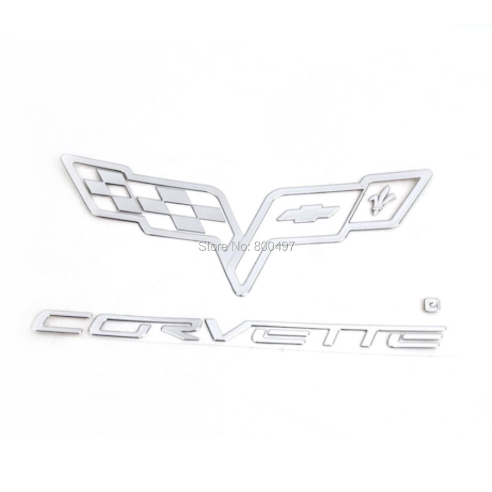 Badge en alliage de Nickel pour coffre de voiture, insigne autocollant adhésif 3D pour Corvette Stingray Grand Sports Z06