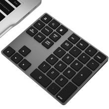 34 مفاتيح بلوتوث اللاسلكية لوحة رقمية صغيرة Numpad مع المزيد من المفاتيح وظيفة لوحة المفاتيح الرقمية للكمبيوتر ماك بوك عدد الوسادة الصغيرة