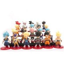 21 unids/set de Dragon Ball Z Goku vegeta Gogeta freezer Piccolo Goten Super Saiyan figura de acción de PVC modelo DBZ de 7-8cm
