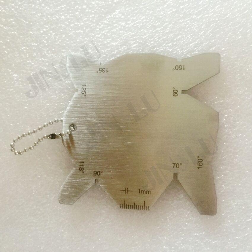 Бит измерительный прибор для лезвия тест Ulnar линейка сварочного контроля измерительный щуп для сварки