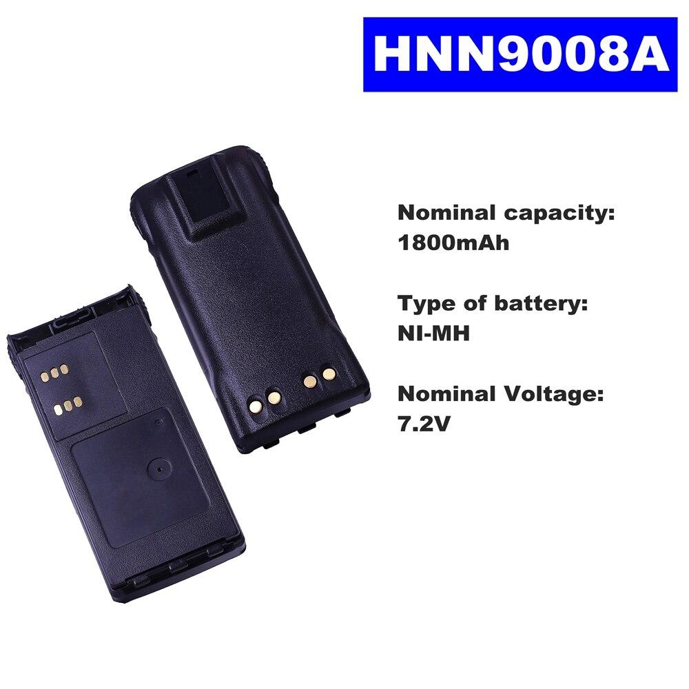 7.2V 1800mAh NI-MH Radio Battery HNN9008A For Motorola Walkie Talkie GP320/340/338/360/380 PTX760/960 PRO-5150 Two Way Radio недорого
