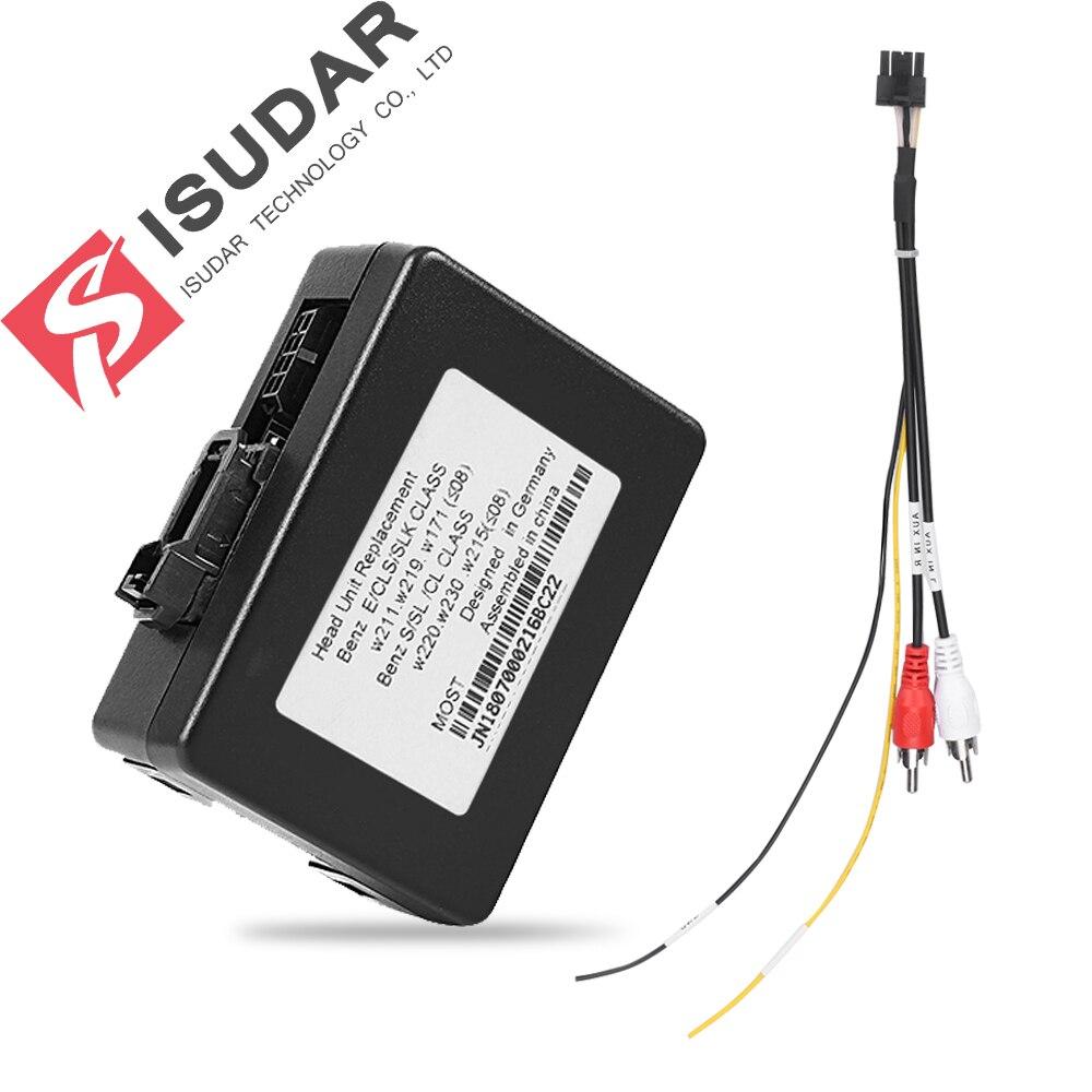 Decodificador de fibra óptica para coche ISUDAR para Mercedes/W211/E Clase S sonido W220 solo admite ISUDAR reproductor de DVD