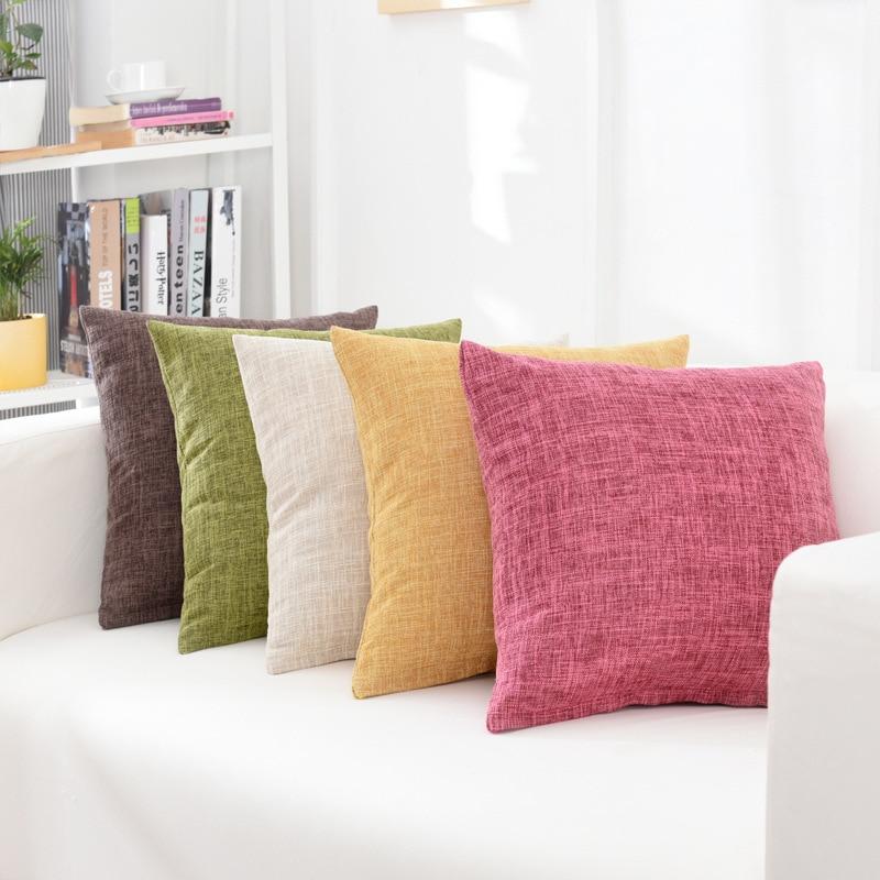 Solid Sofa Waist Cushion Cover Pillow 30x50/40x40/45x45/40x60/50x50/55x55/60x60cm Cheaper Decorative