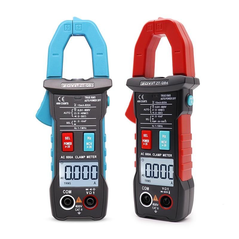 ZOYI ZT-QB1/QB3/QB4 True RMS Mini Digital Clamp Meters AC/DC Current Voltage Auto Range NCV Capacitance Non Contact Multimeter