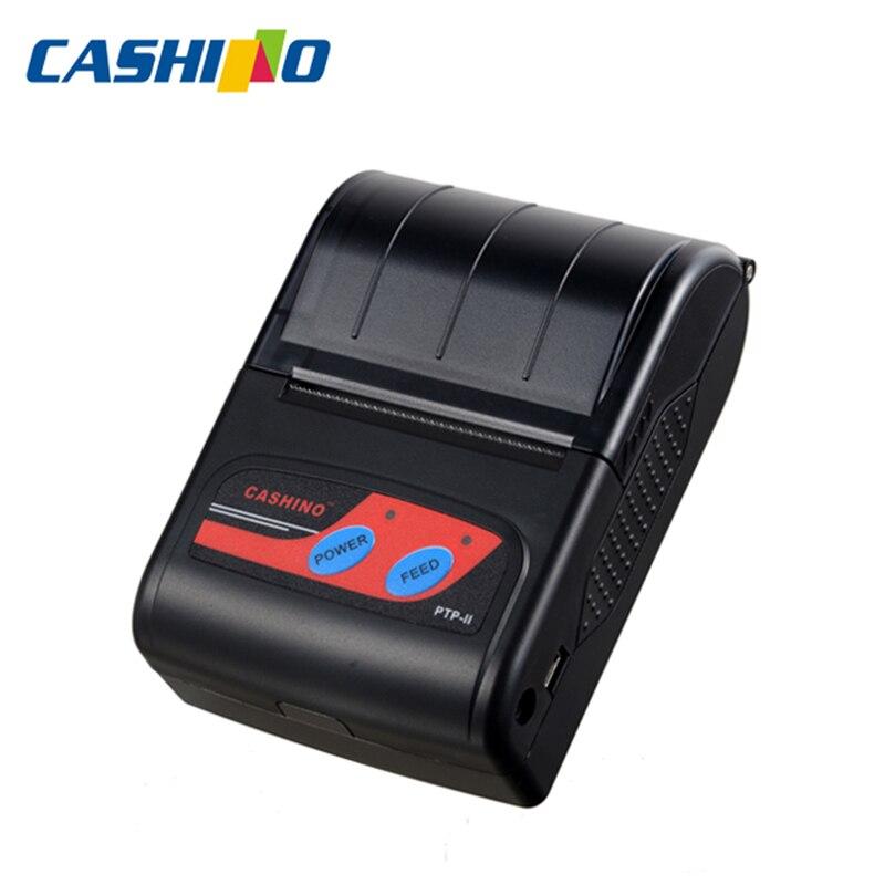 Cashino PTP-II barato portátil bolsillo código de barras recibo mini bluetooth impresora térmica para teléfono móvil laptop