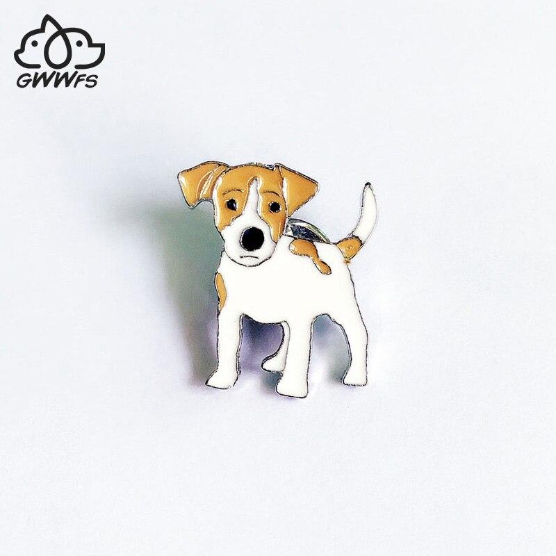 Брошка для женщин и мужчин Jack Russell Terrier, серебристая брошка из металлического сплава в виде животных для мужчин и женщин, брошка для собак, украшения для одежды