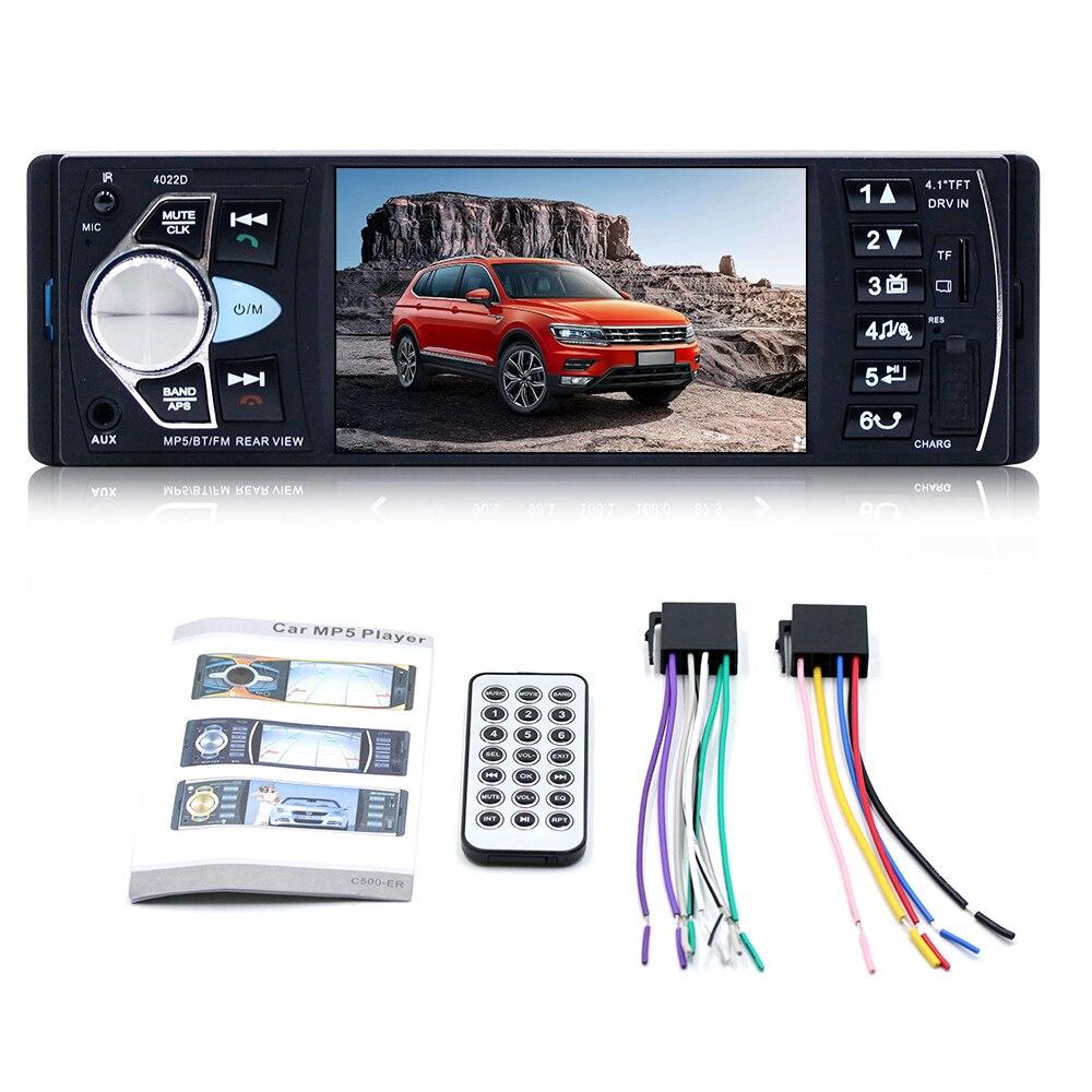 4.1inch Audio Car Mp5 Player FM Car Radio 1Din Autoradio Bluetooth Audio Auto Stereo Mp4 Car Mp5 Player 4.1 inch Accessories