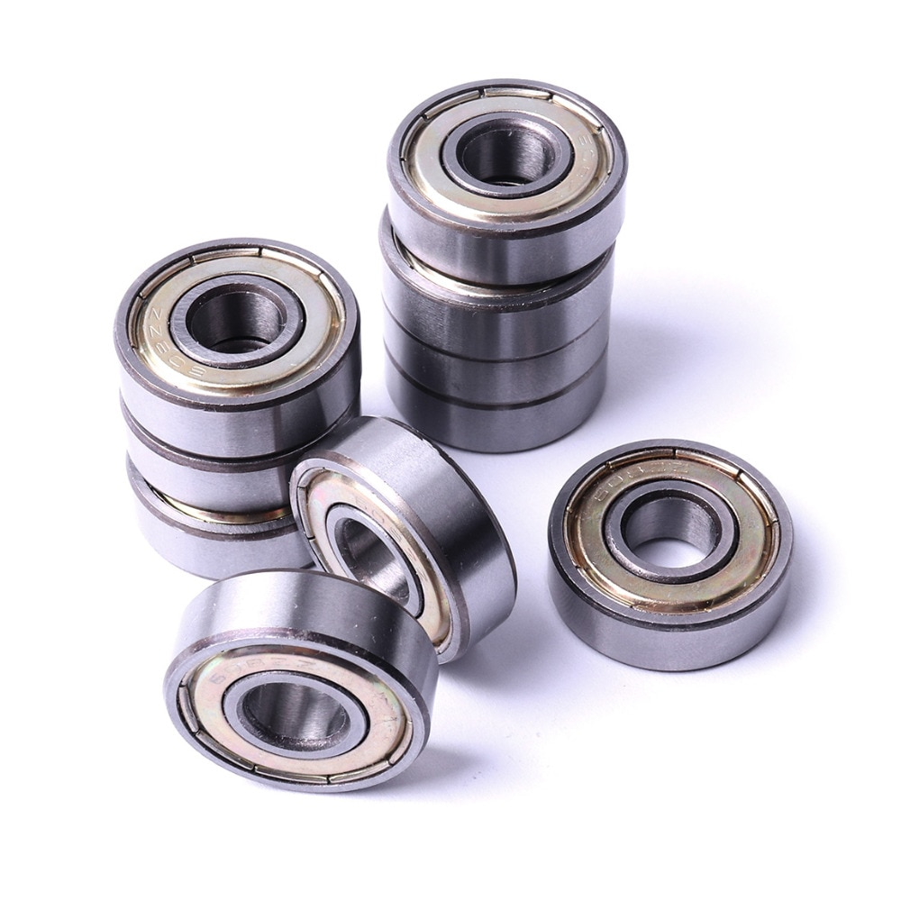 10 unids/set 8*22*7mm 608ZZ rodamientos rígidos de bolas de acero al carbono rodamiento para impresora 8mm diámetro miniatura